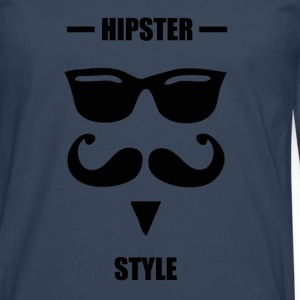 Hipster style blue - T-shirt manches longues Premium Homme