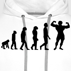 Evolution Body Building - Sweat-shirt à capuche Premium pour hommes