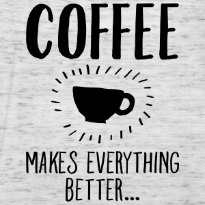 Coffee Makes Everything Better... T-shirts - Vrouwen tank top van Bella