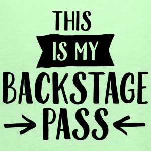 This Is My Backstage Pass T-shirts - Tanktopp dam från Bella