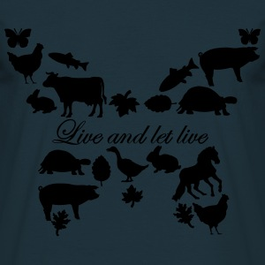 Live and let live Kapuzensweater // women - Männer T-Shirt