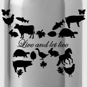 Live and let live Kapuzensweater // women - Trinkflasche