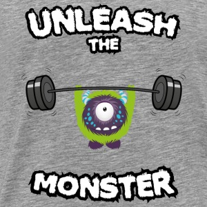 Unleash the Monster Topper - Premium T-skjorte for menn