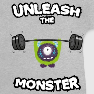 Grau meliert Unleash the Monster T-Shirts T-Shirts - Baby T-Shirt