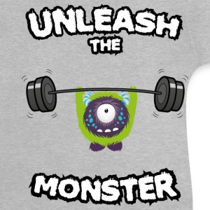 Gris chiné Unleash the Monster Tee shirts Tee shirts - T-shirt Bébé