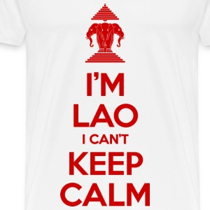 I'm Lao I Can't Keep Calm Tops - Men's Premium T-Shirt