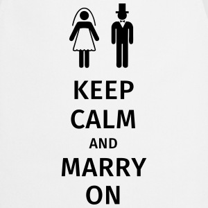 keep calm and marry on Koszulki - Fartuch kuchenny