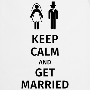 keep calm and get married Koszulki - Fartuch kuchenny