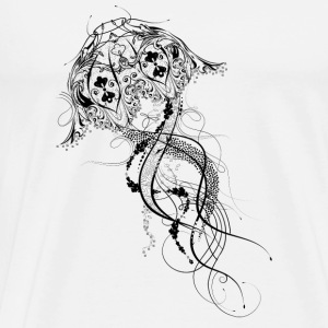 An artisticly decorated jellyfish Buttons - Men's Premium T-Shirt