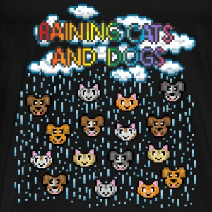 Noir Raining cats and dogs Bodys Bébés - T-shirt Premium Homme