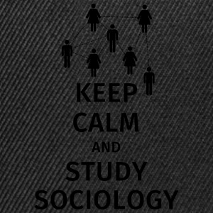 keep calm and sociology Koszulki - Czapka typu snapback
