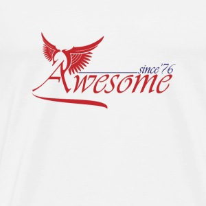 Awesome SINCE 1976 Mugs & Drinkware - Men's Premium T-Shirt
