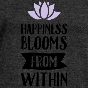 Happiness Blooms From Within T-Shirts - Frauen Pullover mit U-Boot-Ausschnitt von Bella