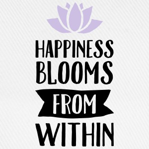 Happiness Blooms From Within Topper - Baseballcap