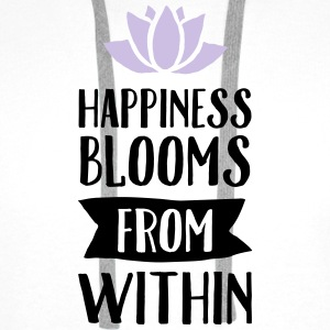 Happiness Blooms From Within Débardeurs - Sweat-shirt à capuche Premium pour hommes