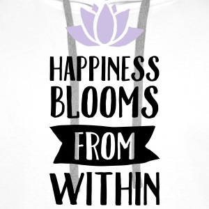 Happiness Blooms From Within Tops - Mannen Premium hoodie