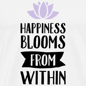 Happiness Blooms From Within Topper - Premium T-skjorte for menn