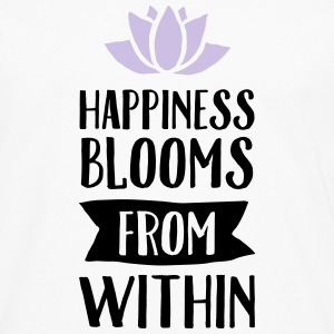 Happiness Blooms From Within Tops - Männer Premium Langarmshirt