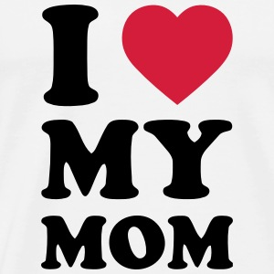 I LOVE MY MOM Baby-bodyer - Herre premium T-shirt