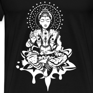 Buddha in the lotus position - White- Tops - Men's Premium T-Shirt