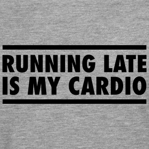 Running Late Is My Cardio T-shirts - Herre premium T-shirt med lange ærmer