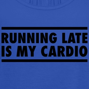 Running Late Is My Cardio T-skjorter - Singlet for kvinner fra Bella