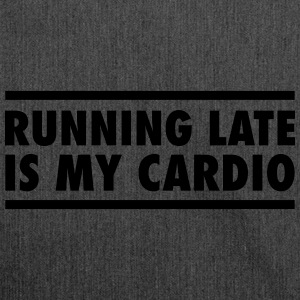 Running Late Is My Cardio T-shirts - Skuldertaske af recycling-material