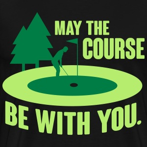 May the course be with you - golf Tröjor - Premium-T-shirt herr