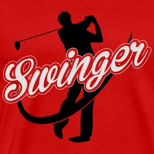 Golf Swinger Tank Tops - Herre premium T-shirt