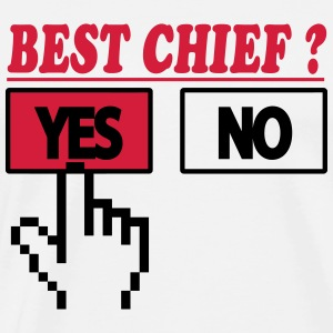 Best chief ? yes 222 Forklæder - Herre premium T-shirt