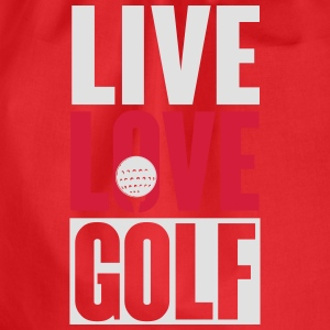 Live love golf T-Shirts - Drawstring Bag