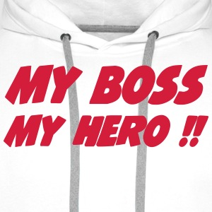 My boss My hero !! 222  Aprons - Men's Premium Hoodie