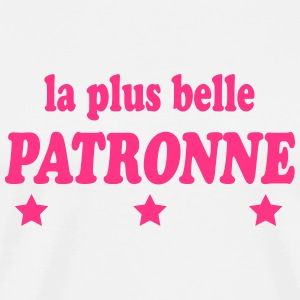 La plus belle patronne 222  Aprons - Men's Premium T-Shirt
