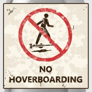 No hoverboarding back to the future T-Shirts - Trinkflasche