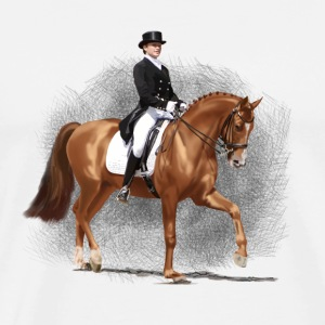 dressage Topper - Premium T-skjorte for menn