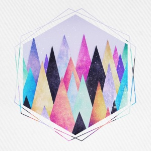 Hipster triangles (geometry) Abstract Mountains  Phone & Tablet Cases - Baseball Cap