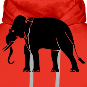 Siamese Asian Elephant T-Shirts - Men's Premium Hoodie