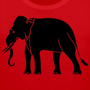 Siamese Asian Elephant T-Shirts - Men's Premium Tank Top