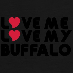 Love Me Love My Buffalo Caps & Hats - Men's Premium T-Shirt
