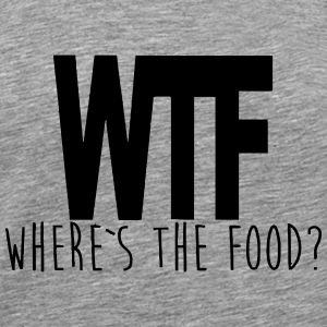 WTF - WHERE IS THE FOOD? Sportkläder - Premium-T-shirt herr