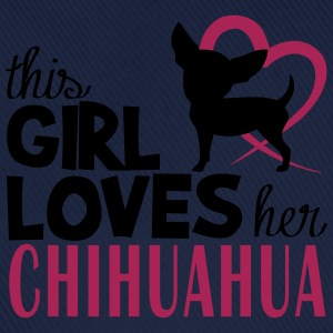 This girl loves Chihuahua Felpe - Cappello con visiera