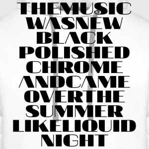 The Music was New Polished Chrome - Männer Premium Hoodie