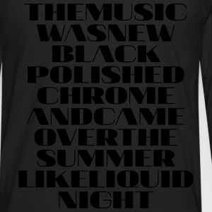 The Music was new polished chrome - Männer Premium Langarmshirt