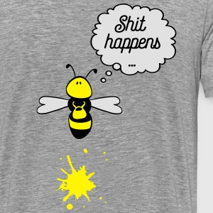 Shit happens bee Sweat-shirts - T-shirt Premium Homme