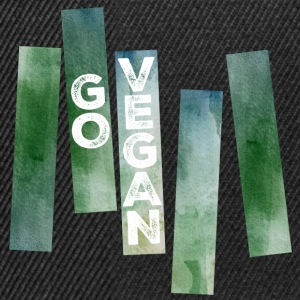 Go Vegan (Watercolor Stripes) Tee shirts - Casquette snapback