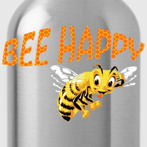 bee happy T-Shirts - Water Bottle