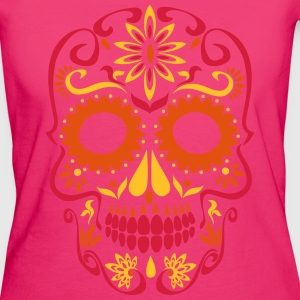 sugar skull day of the dead Tops - Women's Organic T-shirt