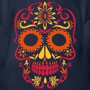sugar skull day of the dead Long Sleeve Shirts - Organic Short-sleeved Baby Bodysuit