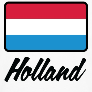 Nationale flag af Holland T-shirts - Herre premium T-shirt med lange ærmer