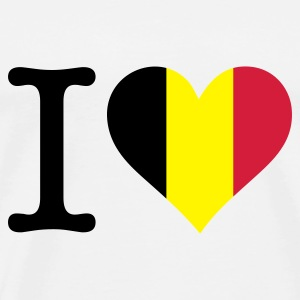 I Love Belgium Bags & Backpacks - Men's Premium T-Shirt